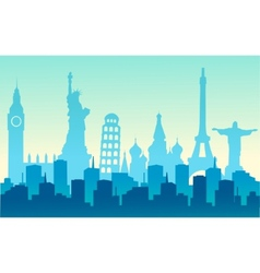 cities of the world vector image