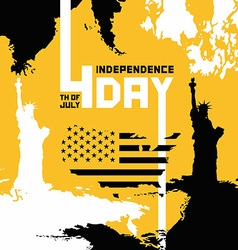 Happy independence day of the usa vector image