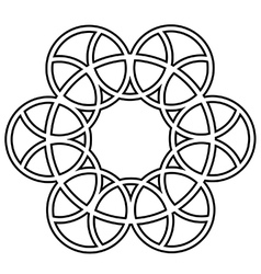 Interlocking circles vector