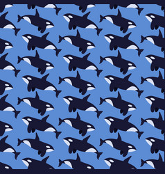 killer whale flat seamless pattern vector image vector image