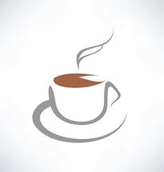 tea cup symbol vector image vector image