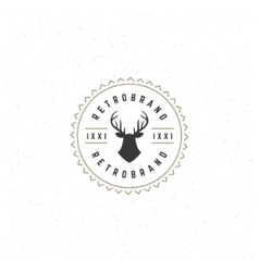 Deer head Design Element in Vintage Style for vector image vector image