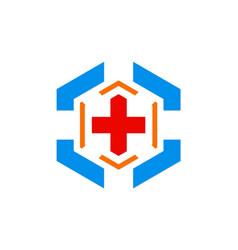 Hospital cross sign logo vector