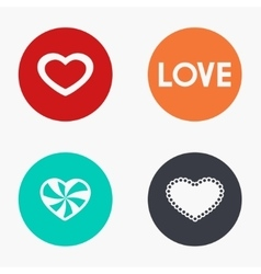 modern heart colorful icons set vector image vector image