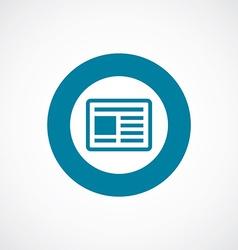 News icon bold blue circle border vector