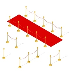 Red Carpet Set Isometric View vector image vector image