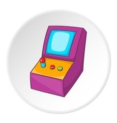 Slot machine icon cartoon style vector image vector image