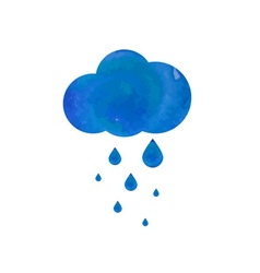 Watercolor rainy cloud vector image