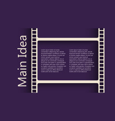 film reel back vector image vector image