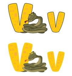 letter V viper vector image vector image