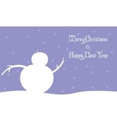 Merry Christmas snowman winter landscape vector image