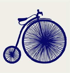 Penny farthing vector image