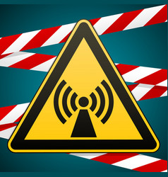safety sign caution danger electromagnetic field vector image