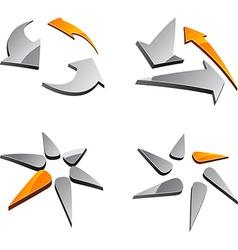 Set of abstract symbols vector image
