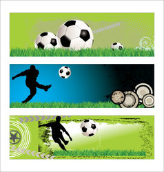 soccer grunge background set vector image vector image