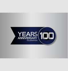 100 years anniversary logo style with circle vector