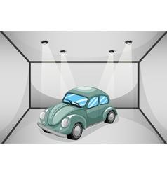 A garage with a car vector