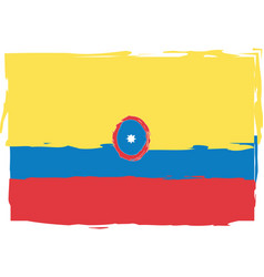 abstract colombia flag or banner vector image