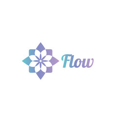 abstract flower logo design inspiration isolated vector image