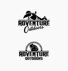 adventure logo badges 3 vector image