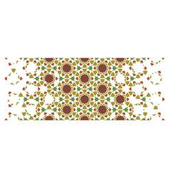 Arabic seamless pattern geometric halftone vector
