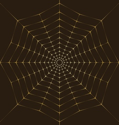 Background Golden spiderweb vector