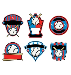 Baseball Badges and Emblems vector image