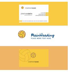 beautiful basketball logo and business card vector image