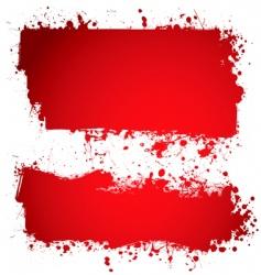 blood ink vector image