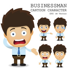 Businessman cartoon character EPS 10 vector image