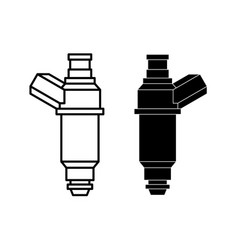 Car fuel injector engine injection element line vector