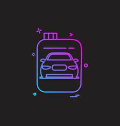 car workshop icon design vector image