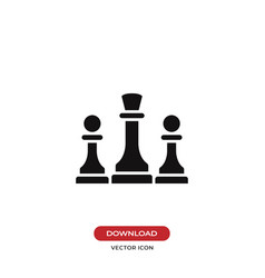 chess icon vector image