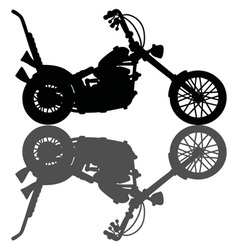 Classic black chopper vector