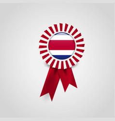costa rica badge icon design vector image