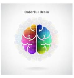 Creative colorful left and right brain Idea concep vector image