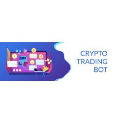 crypto trading bot concept banner header vector image