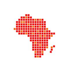 Digitally africa red pixels symbol design vector