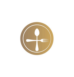 dinner spoon food logo vector image