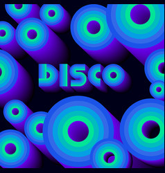 Disco poster circles vector