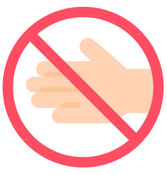 Do not touch sign flat style icon vector