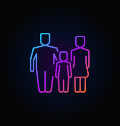 family outline colorful icon vector image