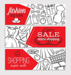 Fashion online shop vector