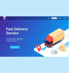 fast delivery lp template vector image