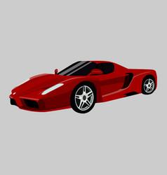Ferrari f12 berlinetta icon on a grey vector
