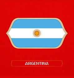 flag of argentina is made in football style vector image