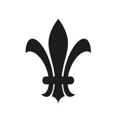 fleur de lis heraldic icon vector image