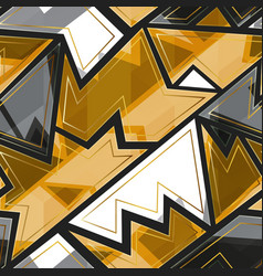 gold geometric seamless pattern vector image