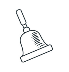 handdraw icon bell vector image