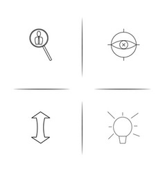 Internet technologies simple linear icons set vector